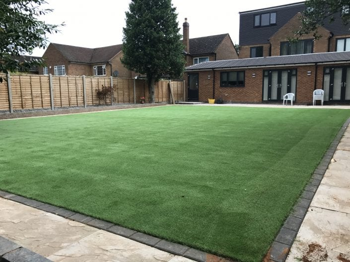 Juniper artificial lawn in Solihull
