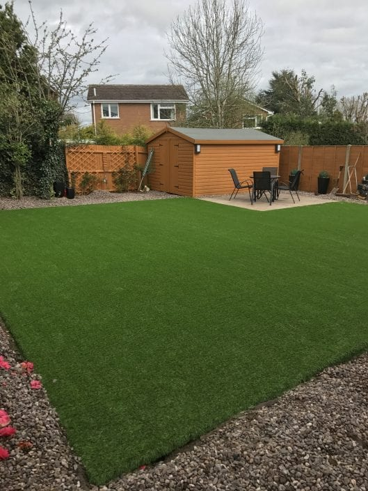 Large back garden installation in Knowle.